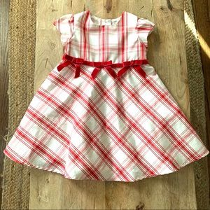 Off white and red plaid 3T George Dress Formal